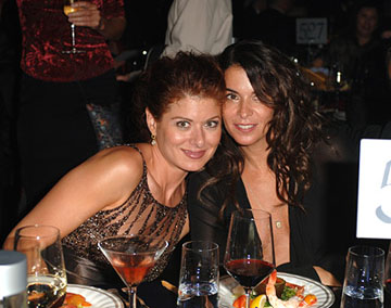 Debra Messing and Annabella Sciorra Governor's Ball Emmy Awards - 9/18/2005