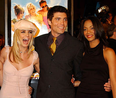 Premiere: Britney Spears, Anson Mount and Zoe Saldana at the Hollywood premiere for Paramount's Crossroads - 1/11/2002