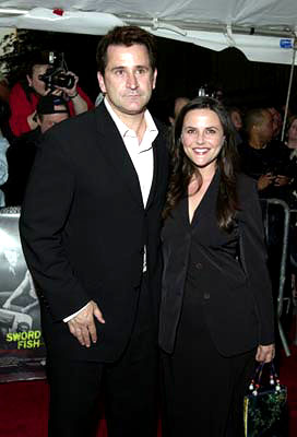 Premiere: Anthony LaPaglia and wife at the New York premiere of Warner Brothers' Swordfish - 5/14/2001