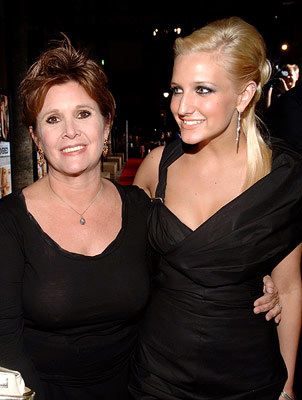 Premiere: Carrie Fisher and Ashlee Simpson at the Hollywood premiere of Lions Gate Films' Undiscovered - 8/23/2005