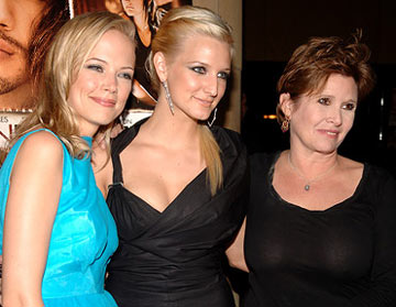 Premiere: Pell James, Ashlee Simpson and Carrie Fisher at the Hollywood premiere of Lions Gate Films' Undiscovered - 8/23/2005