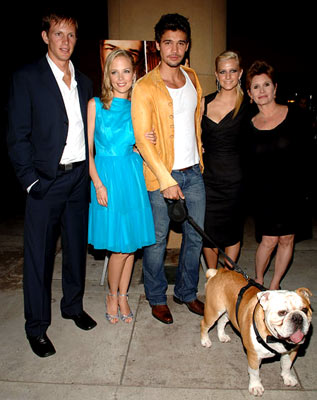 Premiere: Kip Pardue, Pell James, Steven Strait, Ashlee Simpson and Carrie Fisher at the Hollywood premiere of Lions Gate Films' Undiscovered - 8/23/2005