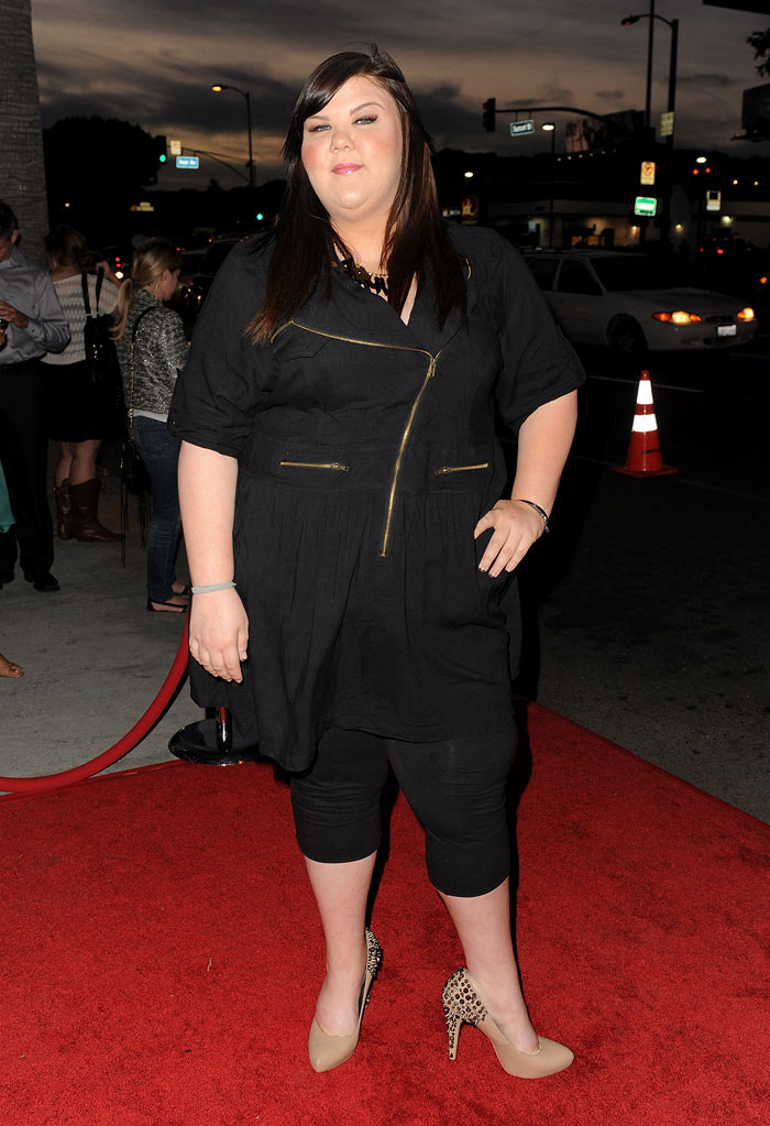 "Ashley Fink arrives at the premiere of FX's ""American Horror Story"" at the ArcLight Cinemas Cinerama Dome on October 3, 2011 in Hollywood, California."