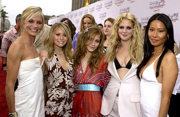 Premiere: Cameron Diaz, Mary-Kate Olsen, Ashley Olsen, Drew Barrymore and Lucy Liu at the LA premiere of Columbia's Charlie's Angels: Full Throttle - 6/18/2003