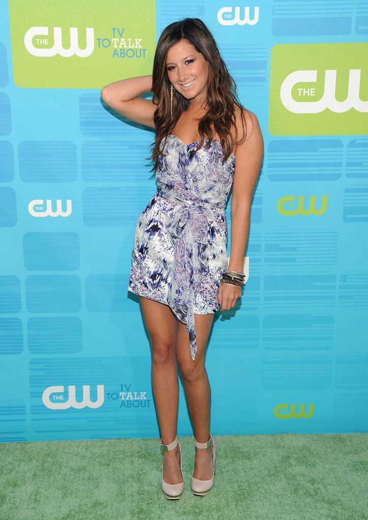 "Ashley Tisdale (""Hellcats"") attends the 2010 The CW Upfront at Madison Square Garden on May 20, 2010 in New York City."