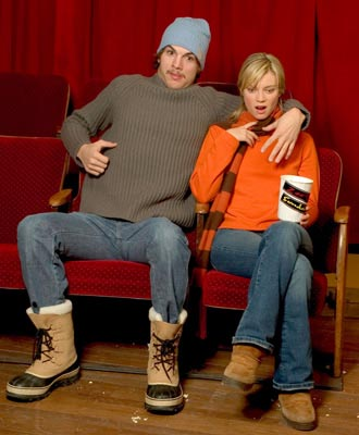 "Ashton Kutcher and Amy Smart ""The Butterfly Effect"" - 1/18/2004 Sundance Film Festival"
