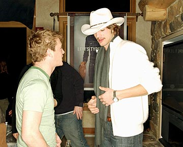 "William Lee Scott and Ashton Kutcher ""The Butterfly Effect"" - 1/17/2004 Sundance Film Festival"