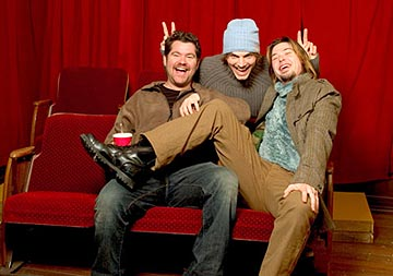 "Eric Bress, Ashton Kutcher and J. Mackye Gruber ""The Butterfly Effect"" - 1/18/2004 Sundance Film Festival"