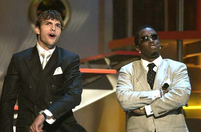 Ashton Kutcher and P. Diddy MTV Movie Awards - 5/31/2003