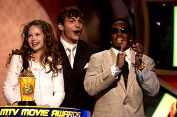 Daveigh Chase, Ashton Kutcher, P. Diddy MTV Movie Awards - 5/31/2003