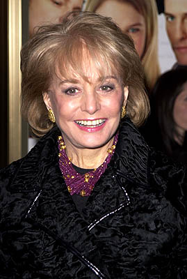 Premiere: Barbara Walters at the New York premiere of Miramax's Bridget Jones's Diary - 4/2/2001