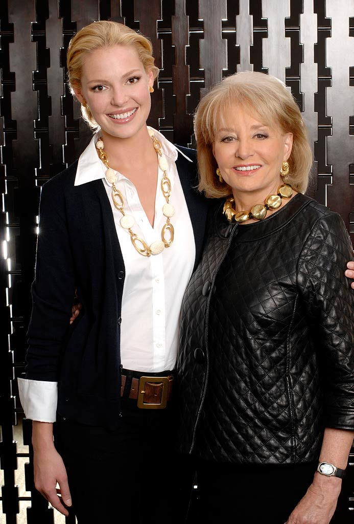 Katherine Heigl and Barbara Walters on Barbara Walters Presents:  The 10 Most Fascinating People of 2007.