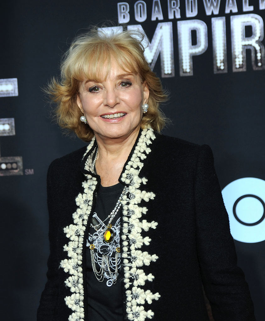 "Barbara Walters attends the premiere of ""Boardwalk Empire"" at the Ziegfeld Theatre on September 15, 2010, in New York City."