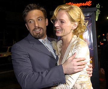 Premiere: Ben Affleck and Uma Thurman at the LA premiere of Paramount's Paycheck - 12/18/2003