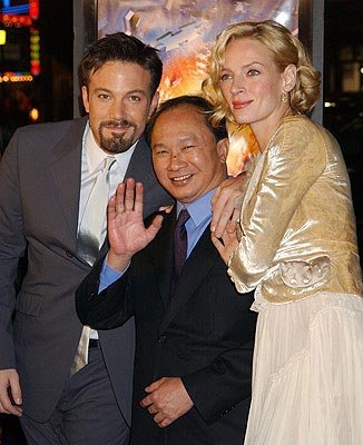Premiere: Ben Affleck, John Woo and Uma Thurman at the LA premiere of Paramount's Paycheck - 12/18/2003