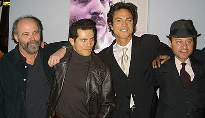 Premiere: Leon Ichaso, John Leguizamo, Benjamin Bratt and Fisher Stevens at the New York premiere of Miramax's Pinero - 12/10/2001
