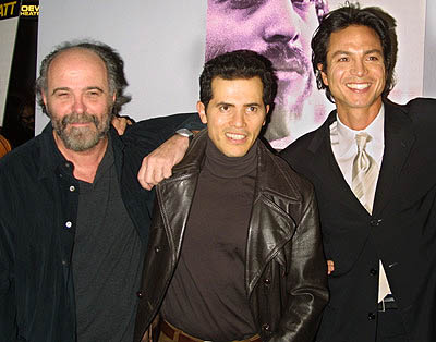 Premiere: Leon Ichaso, John Leguizamo and Benjamin Bratt at the New York premiere of Miramax's Pinero - 12/10/2001