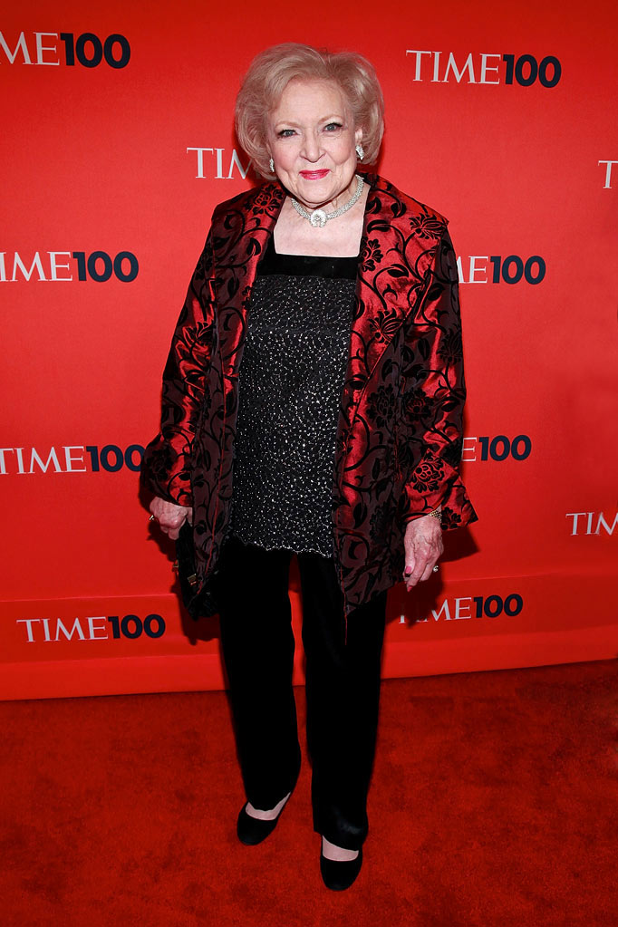 Betty White attends the 2010 TIME 100 Gala at the Time Warner Center on May 4, 2010 in New York City.