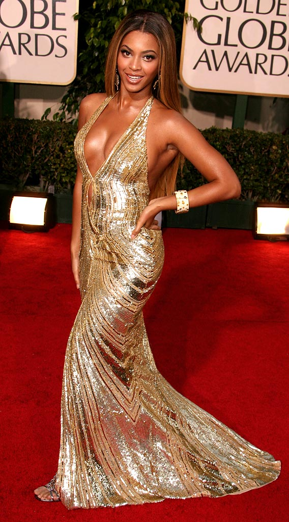 Beyonce Knowles at the 64th annual Golden Globe Awards.