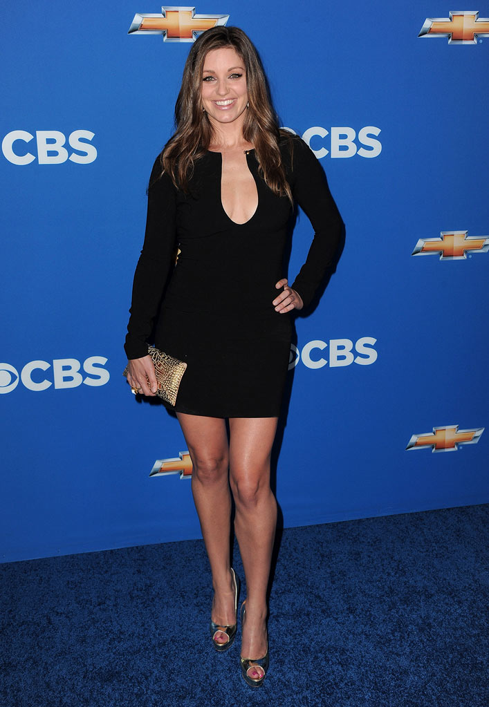 "Bianca Kajlich of ""Rules of Engagement"" arrives at the CBS Fall Season Premiere party at The Colony on September 16, 2010, in Los Angeles."