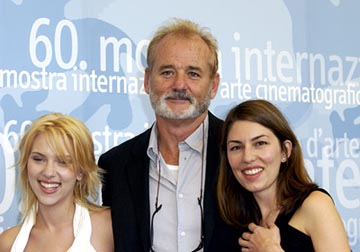 Scarlett Johansson, Bill Murray, Sofia Coppola Lost in Translation Venice Film Festival - 8/31/2003