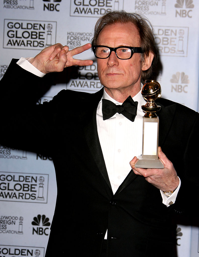 "Bill Nighy, winner Best Performance by an Actor in a Mini-Series or Motion Picture Made for Television for ""Gideon's Daughter,"" at the 64th annual Golden Globe Awards."