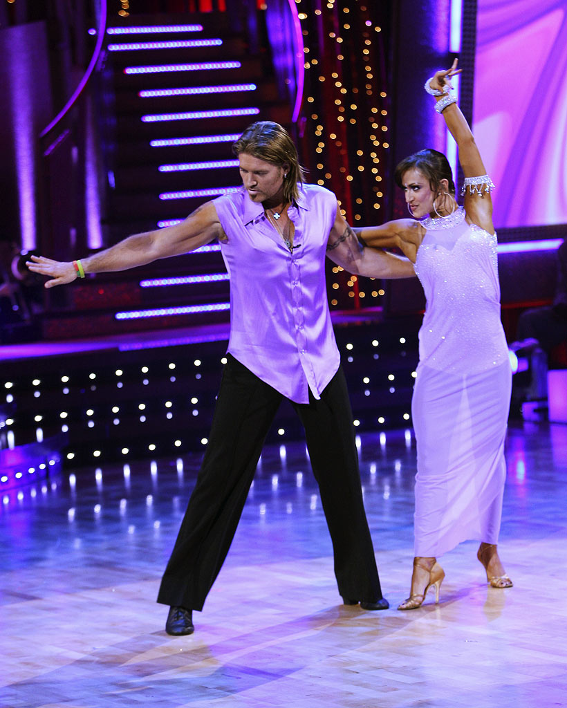 Billy Ray Cyrus and professional dancer, Karina Smirnoff perform their fifth dance in the 4th season of Dancing with the Stars.