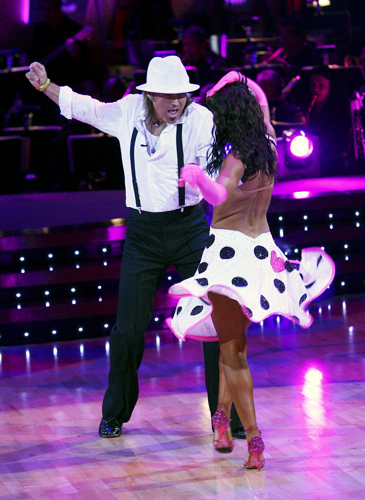 Billy Ray Cyrus and professional dancer, Karina Smirnoff perform their sixth dance, the Jive, in the 4th season of Dancing with the Stars.