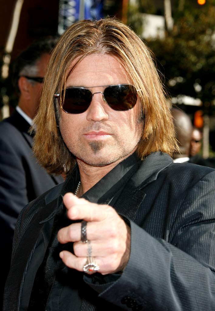 Billy Ray Cyrus arrives at the 59th Annual Primetime Creative Arts Emmy Awards at the Shrine Auditorium on September 8, 2007 in Los Angeles, California.