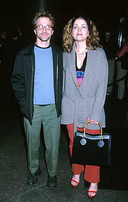 Premiere: Breckin Meyer and Deborah Kaplan at the Los Angeles premiere of Fine Line's State and Main - 12/18/2000