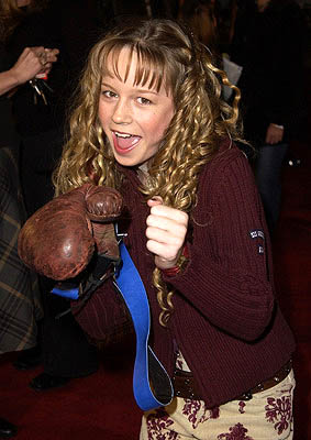 "Premiere: ""Raising Dad"" star Brie Larson at the Hollywood premiere for Paramount's Crossroads - 1/11/2002"