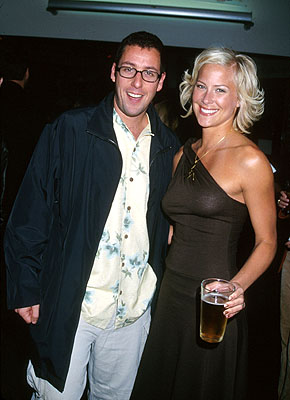 Premiere: Adam Sandler and Brittany Daniel at the Hollywood premiere of Columbia's Joe Dirt - 4/1/2001