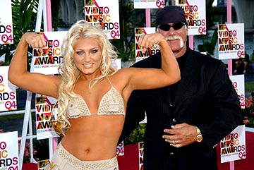 Brooke Hogan and Hulk Hogan MTV Video Music Awards - 8/29/2004 Brooke Hogan