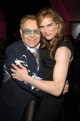 Elton John and Brooke Shields 13th Annual Elton John AIDS Foundation Oscar Party West Hollywood, CA - 2/27/05