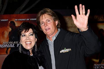 Premiere: Bruce Jenner and wife Kris at the LA premiere of Touchstone's National Treasure - 11/8/2004