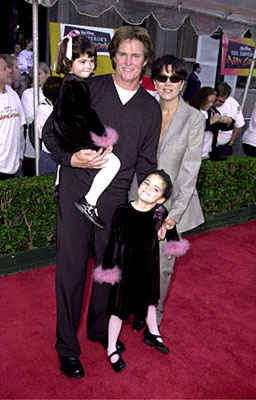Premiere: Bruce Jenner and his brood at the Hollywood premiere of Walt Disney's The Emperor's New Groove - 12/10/2000