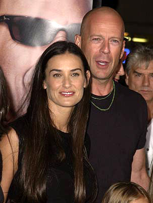 Premiere: Demi Moore and Bruce Willis at the Westwood premiere of MGM's Bandits - 10/4/2001