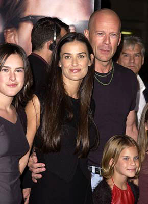 Premiere: Rumer Willis, Demi Moore, Bruce Willis andTallulah Belle Willis at the Westwood premiere of MGM's Bandits - 10/4/2001