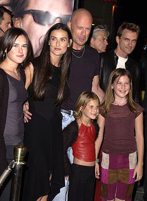 Premiere: Rumer Willis, Demi Moore, Bruce Willis, Tallulah Belle Willis and Scout LaRue Willis at the Westwood premiere of MGM's Bandits - 10/4/2001