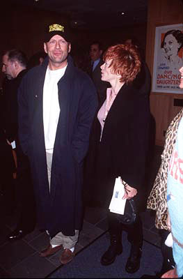 Premiere: Bruce Willis and Frances Fisher at the Beverly Hills premiere of Universal's Mercury Rising - 4/1/1998