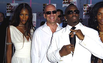 Naomi Campbell, Bruce Willis and P. Diddy MTV Video Music Awards - 8/29/2004