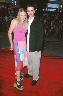 "Premiere: Colin Hanks of ""Roswell"" and Busy Philipps of ""Freaks and Geeks"" at The Chinese Theater premiere of Paramount's Mission Impossible 2 - 5/18/2000"