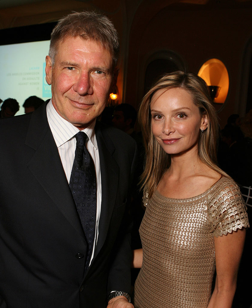 Harrison Ford and Calista Flockhart at the Peace Over Violence (Formely LACAAW) 35th Annual Humanitarian Awards Dinner.