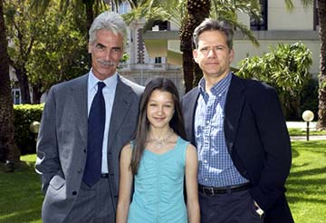 Sam Elliott, Valentina d'Angelis, Campbell Scott Off The Map Photo Call Cannes Film Festival 5/15/2003