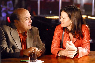"Danny DeVito and Carla Gugino ABC's ""Karen Sisco"""