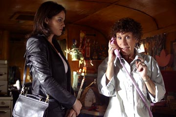 "Carla Gugino and Rhea Perlman ABC's ""Karen Sisco"""