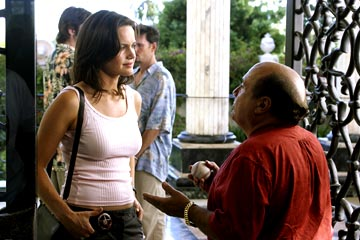 "Carla Gugino and Danny DeVito ABC's ""Karen Sisco"""