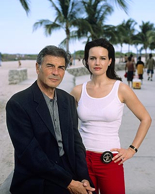 "Robert Forster and Carla Gugino ABC's ""Karen Sisco"""