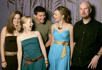 Caroline Dhavernas, Holly Lewis, David Boreanaz, Amanda Walsh and director John Hazlett 2005 Toronto Film Festival - 'These Girls' Portraits