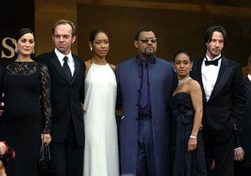Carrie Anne Moss, Hugo Weaving, Gina Torres, Laurence Fishburne, Jada Pinkett Smith, Keanu Reeves The Matrix: Reloaded Premiere Cannes Film Festival 5/15/2003